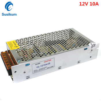 12V 120W 10A DC Power Supply Switching Led Driver AC DC Adapter For LED Strip 110V ~ 220V led Transformer chux switching power supply 120w 12v small volume led strip light ac to dc ms 120w 12v single output 10a power suppyliers