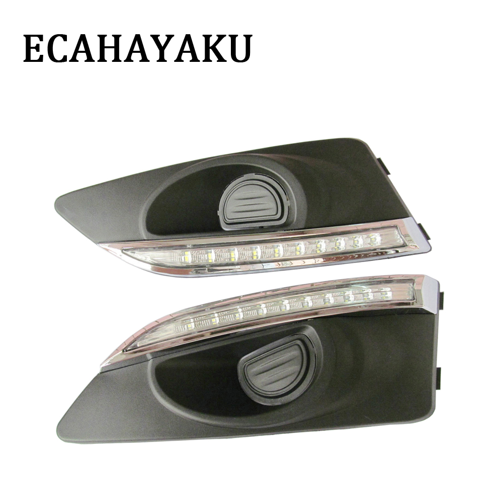 ECAHAYAKU Car-styling LED DRL for Chevrolet AVEO 2011-2013 Daytime Running Light защита картера штамповка 2 мм chevrolet aveo t250 2008 2011 all