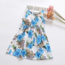 Toddler Baby Kids Girl dress Floral newborn dresses for baby girls clothes Flowers Print Ribbons Dress Casual Princess Dresses(China)