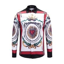 XIMIWUA 2019 Newest Style Men Shirts 3d Print Turn-down Collar Floral Shirt Casual Slim Fit Long Sleeve Mens Button Shirt Large