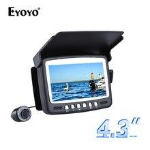 Eyoyo оригинальная 15м подводная камера для рыбалки камера  рыбоискатель подводная рыбалка 4.3 «монитор 1000TVL инфракрасные светодиоды солнцезащитный козырек