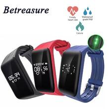 Betreasure Natação Smartband K1 Inteligente Pulseira Bluetooth Heart rate Monitor de Fitness Esporte Pulseira Para IOS Android Telefone Inteligente