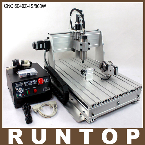 800W Four axis CNC Router Engraver Engraving Milling Drilling Cutting font b Machine b font CNC