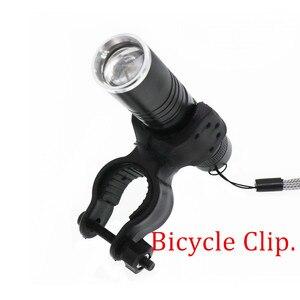 Image 3 - 3800 ルーメン XML T6 ミニポータブルズーム Led 懐中電灯ズームトーチナイトハイキング照明ランタン自転車クリップ