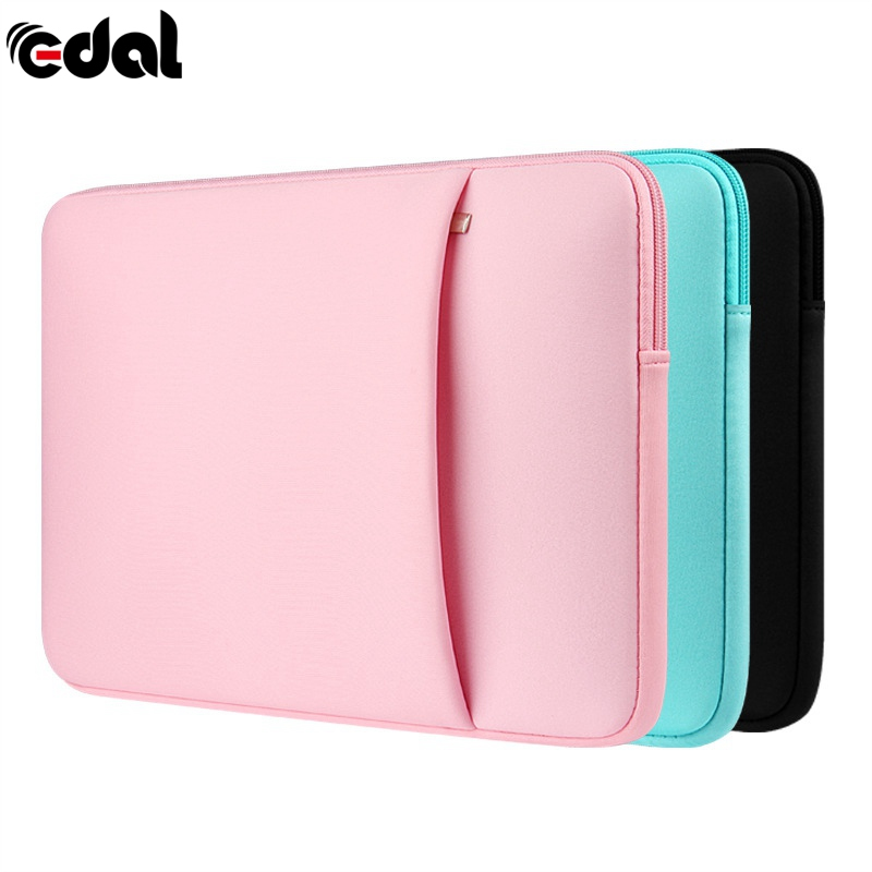 где купить New Soft Zipper Laptop Sleeve Bag Protective Notebook Case Computer Cover for 11 14 15.6 inch For Laptop Notebook дешево
