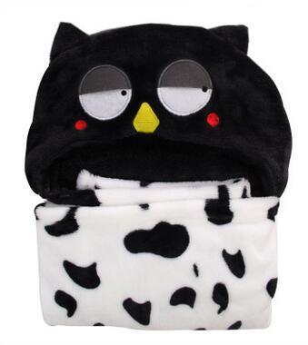 The new hooded cloak Soft and cute baby cloak bath towel Animal model children's bathrobe