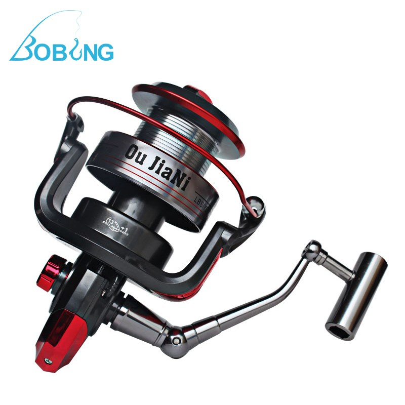 Bobing Power Distant Metal Spinning Fishing Reel 13+1BB Front Drag Long Shot Spool Wheels 9000-11000 Series Carp Sea Casting our distant cousins