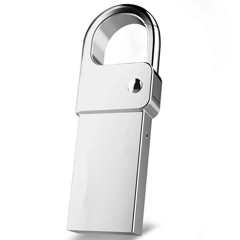 Usb флеш-накопитель металл, серебро, цепочка для ключей, портативный флеш-накопитель 8G 16G 32GB Флешка 64G 128GB Usb флешка