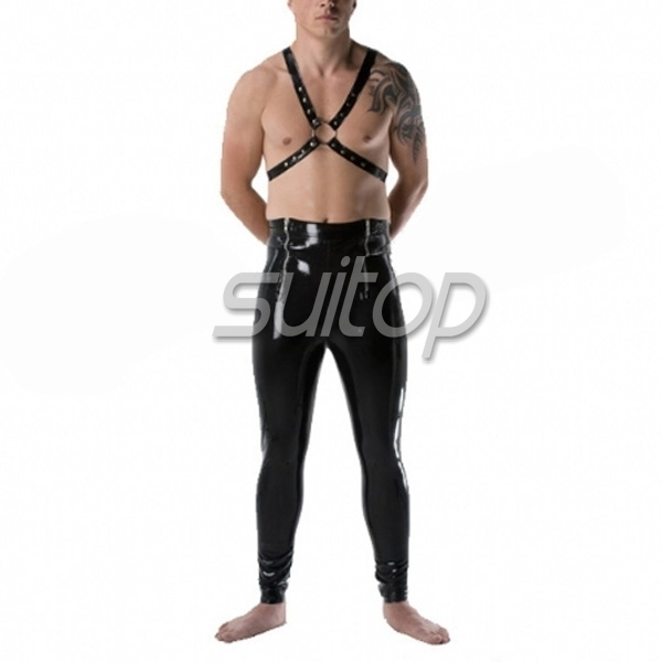 Suitoprubber latex tight font b legging b font with 2 zips Made to measure is welcomed