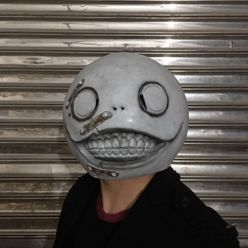 Game NieR Automata Emil Mask Helmet Latex 1:1 Cosplay Costume Prop Halloween