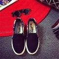 2017  Women Fashion Slip On Woman Flat Casual Shoe Canvas Leisure espadrilles small White shoe student shoes size 35-40