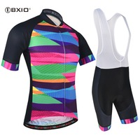 BXIO Quick Dry Short Sleeve Cycling Clothing Breathable Bike Riding Wear Ropa Ciclismo Bicycle Jersey Bib