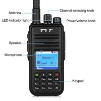 TYT Tytera MD 380 UHF 400 480MHz DMR Digital Radio 1000CH with program cable professioanl headset two way radio accessories