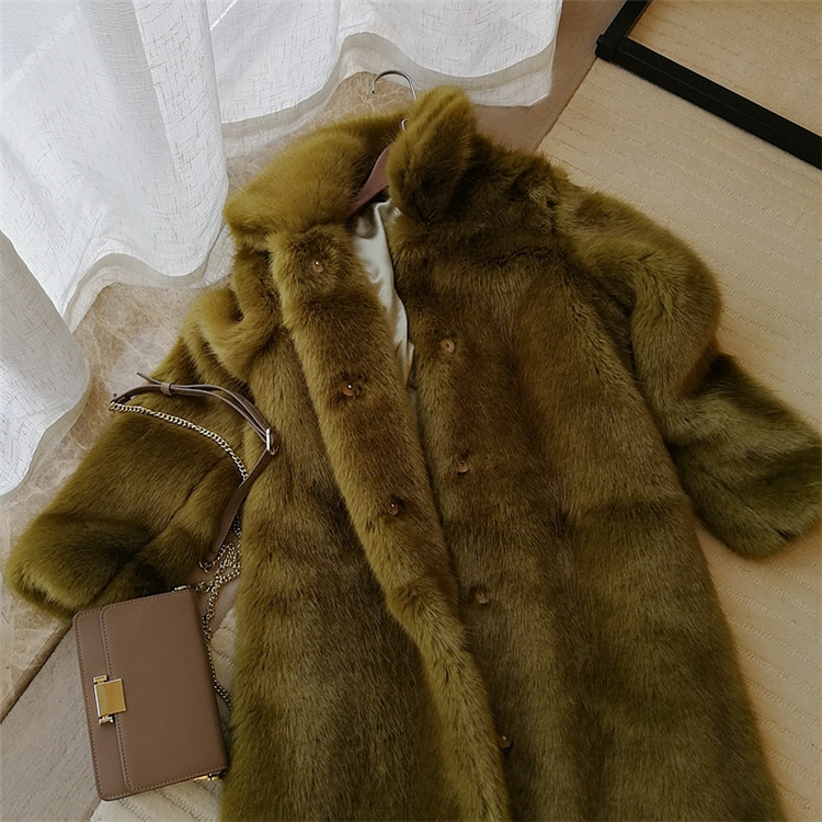 2019 New Style High-end Fashion Women Faux Fur Coat S71 Back To Search Resultswomen's Clothing Faux Fur