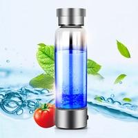Portable Hydrogen Generator Ionizer For Pure H2 Rich Hydrogen Water Bottle Electrolysis Hidrogen 350ML Drink Hydrogen Water USB