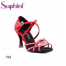 Suphini Classic Latin Dance Shoes Salsa Different Heels Latin Shoes  Woman Dance Shoes Free Shipping цена