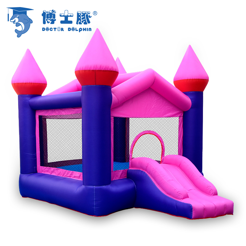 Large Inflatable Jumping Bouncer With Slied Outdoor & Indoor Toys For Kids Inflatable Castle House Age 3+ Free Ten Balloons inflatable small bouncer for ocean balls indoor structures inflatable toys for kindergarten inflatable mini bouncer