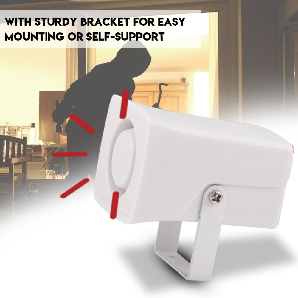 120DB DC12V Mini Wired Siren Horn with Bracket for Wireless Home Security Alarm System