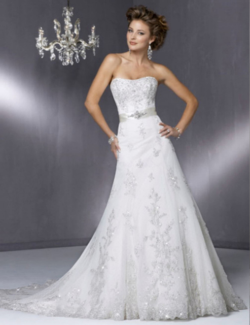 Embroidery Reasonable Price High Quality Strapless Lace Sheath Wedding Dress 2016 Bridal Gown robe de mariage vestido branco