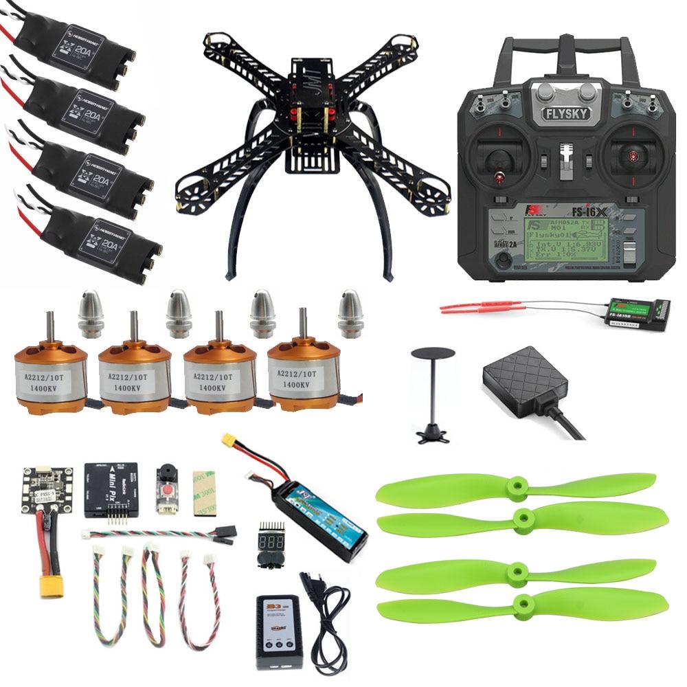 цена на JMT DIY Mini Full 310 Kit Kits FPV Drone 2.4G 10CH RC 4-Axis Quadcopter Radiolink Mini PIX M8N GPS PIXHAWK Altitude Hold Module