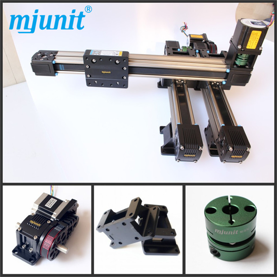 Belt driven linear slide Rail belt drive guideway Professional Manufacturer of Actuator System Axis Positioning 1220 800 one head belt driven linear actuator custom travel length linear motion motorized linear stage belt driven stage