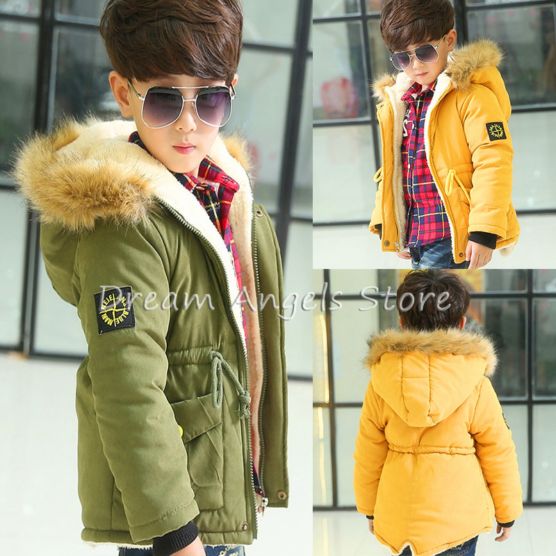 New High Quality Baby Boys Winter Jacket Coat Thick Warm Cashmere Kids Hooded Outerwear Casual Boy Down Parka Children Clothing