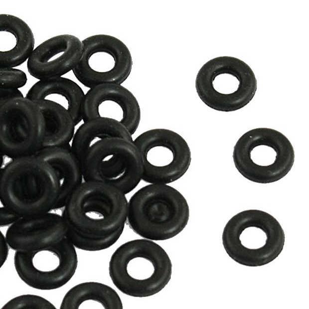 MYLB-ブラック 7 ミリメートル × 2 ミリメートル O リングシールガスケットワッシャー 50 個