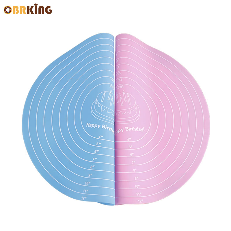 OBRKING 12inch Silicone Baking Mat with Measurement Round ...
