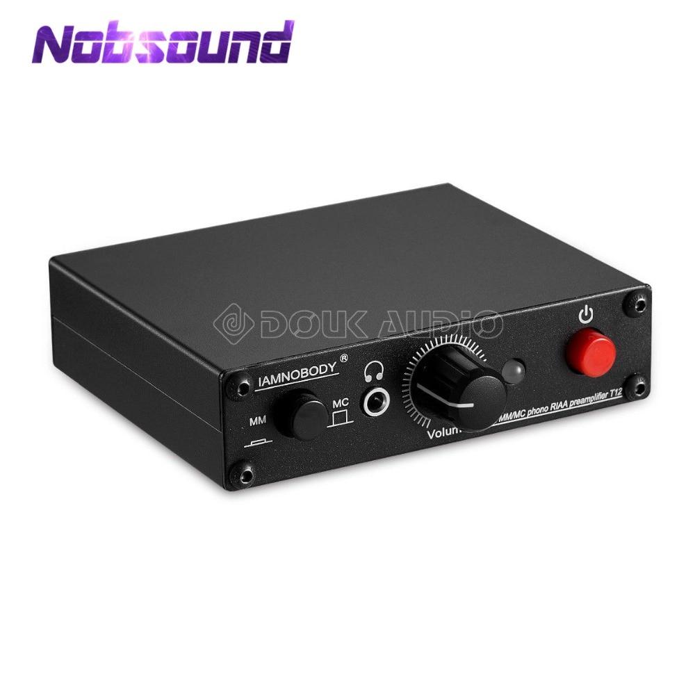 Nobsound мини мм/MC RIAA Phono проигрыватель предусилителя Hi-Fi усилитель для наушников LP Виниловый проигрыватель