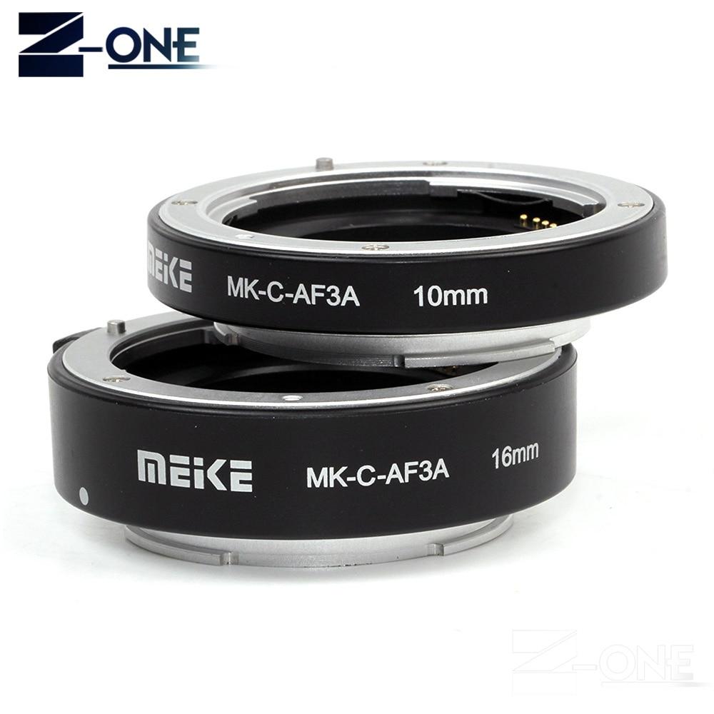 Meike MK-C-AF3A en métal mise au point automatique AF Macro Tube d'extension 10mm 16mm pour caméra de montage Canon M