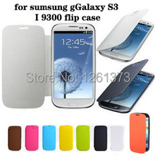 Free Shipping Battery Housing Flip PU Leather Back Case Cover for Samsung Galaxy S3 SIII S