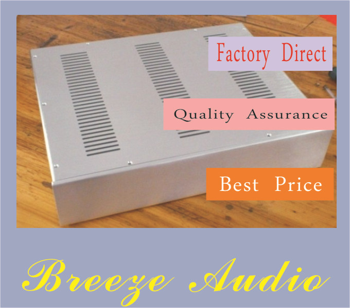 Breeze Audio-4809 preamp/DAC decoding  all- aluminum silver chassis