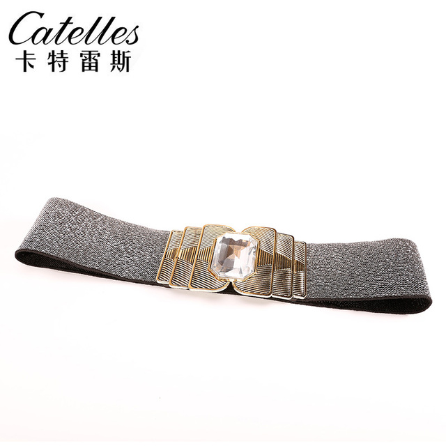 Catelles New Arrival fashion belt 2017 women wide elastic belt with buckle designer belts women high quality