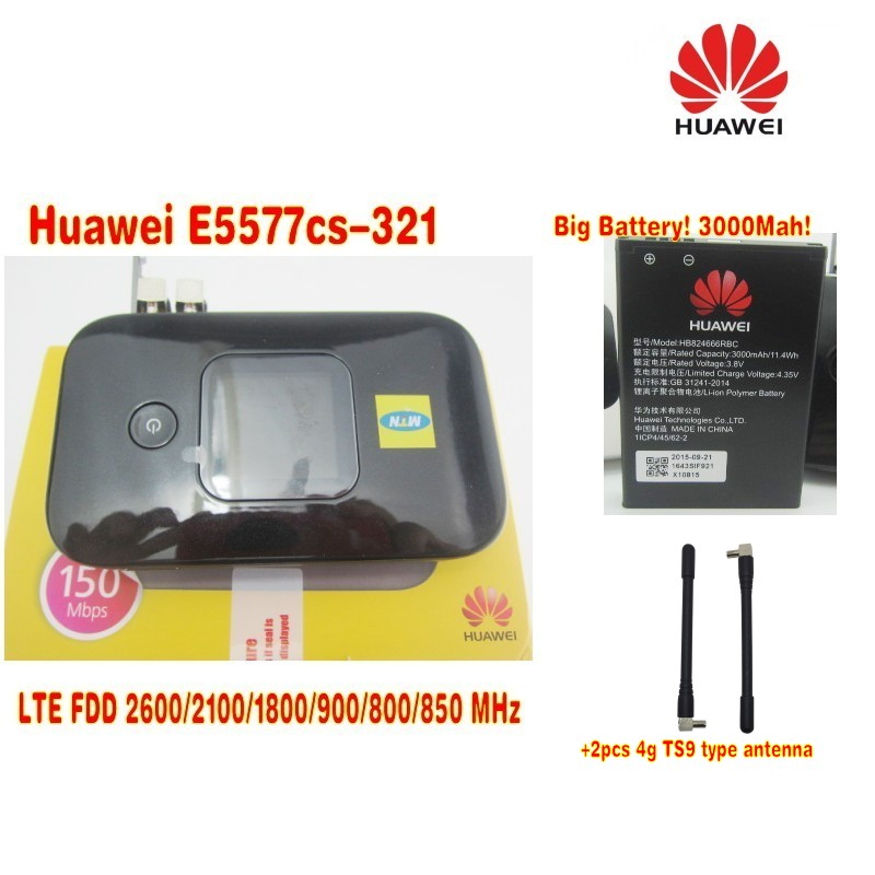 Original Unlock 4G Wireless Router LTE Mobile WiFi Router with SIM Card Slot Huawei E5577Cs-321 plus 2pcs antenna original unlock huawei e5573s 606 portable lte fdd mobile wifi 150mbps 4g wireless router with sim card slot plus antenna