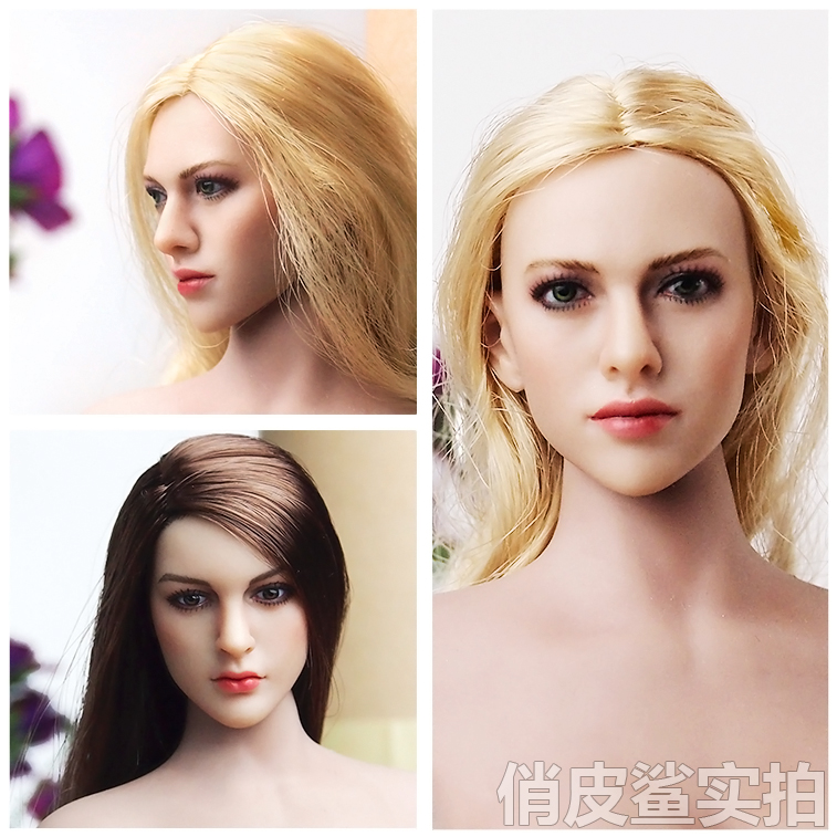 """Brand New KIMI TOYS 1//6th Female Headsculpt KT004 WZ Long Curls For 12/"""" Figures"""