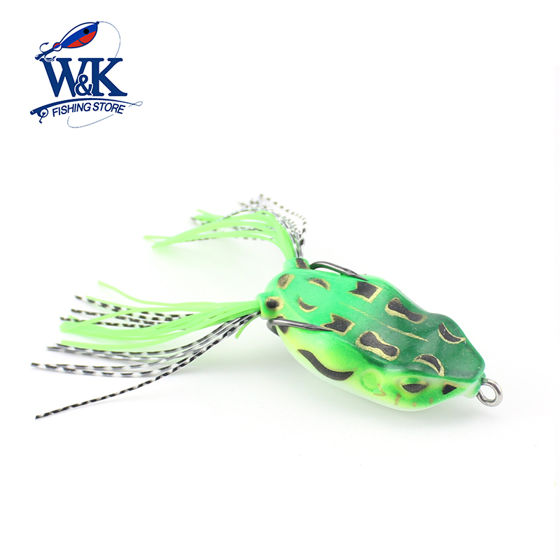 W&K Brand 1PCS High Quality Live Target Frog Lure 5cm/8.5g Snakehead Lure Topwater Lifelike Frog Fishing Lure Tackle J1750