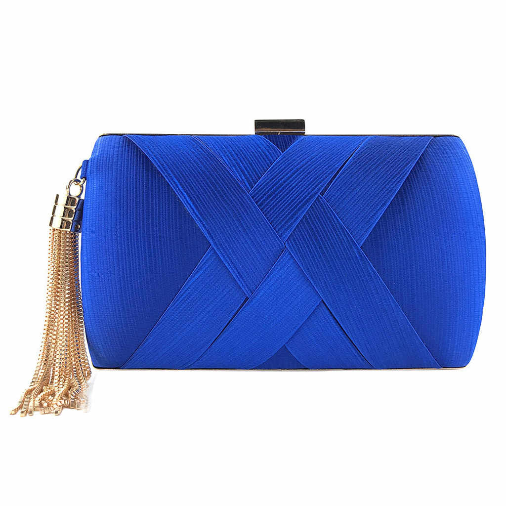 OCARDIAN Handbags Luxury Designer 2019 Women Fashion Tassel Clutches Evening Bags Handbags Wedding Purse Minaudiere Chain M7