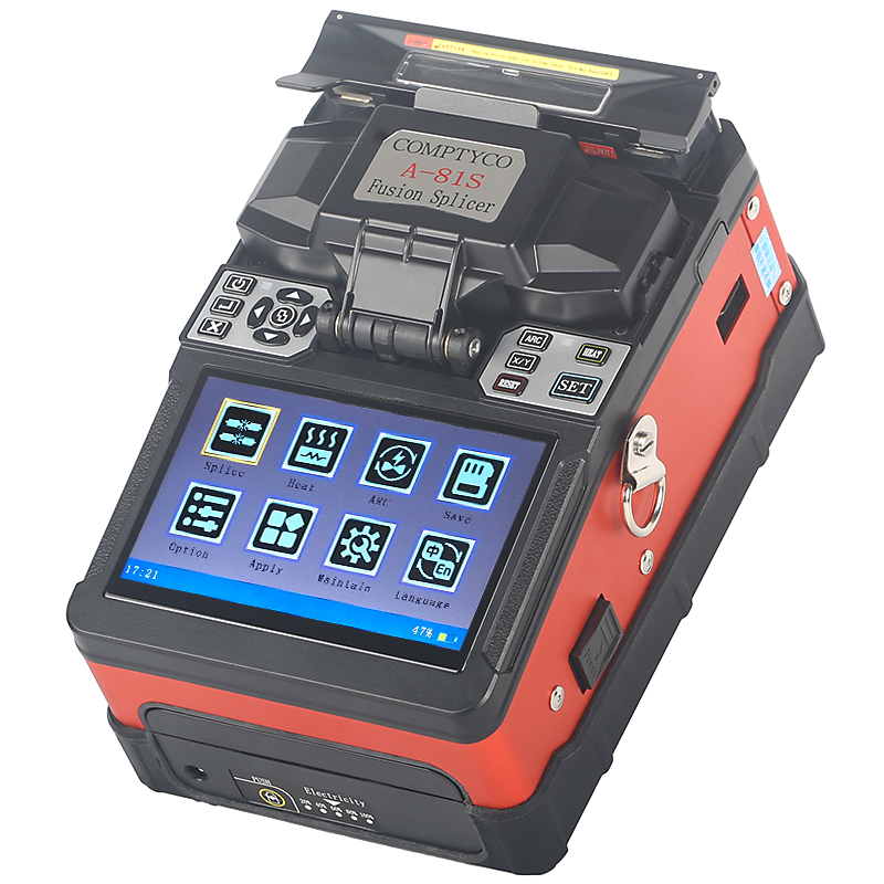 COMPTYCO FTTH Fiber Optic Welding Splicing Machine Optical Fiber Fusion Splicer A 81S New product