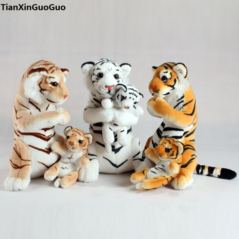 large 42cm lovely tiger plush toy simulation tiger hug baby tiger soft doll throw pillow birthday gift s0609 lovely giant panda about 70cm plush toy t shirt dress panda doll soft throw pillow christmas birthday gift x023