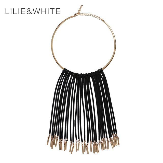 Joyería de moda las mujeres choker collar babero collar falso del collar de borlas de la cadena colgante de regalo de moda hh