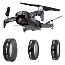 3 Pcs CPL+ND4+ND8 Lens Filter kit for DJI Mavic Air Optical Glass Waterproof Aluminum Alloy Frame With Carrying Box