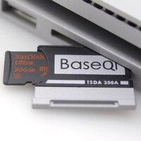 Baseqi Aluminium Micro SD/TF Kartu Adaptor Ekspansi Memori SD Card Reader untuk Microsoft Surface Book 13' dan Permukaan pesan 2 13''