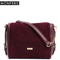 MONFERE Luxury Brand Small Womens Bags Handbags for Girls 2018 Ladies Suede Sling Bags for Women Chain Shoulder&Cross body Bag