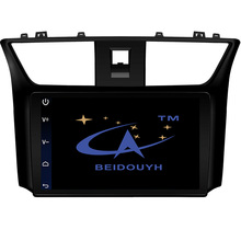 """BEIDOUYH 10.2"""" Android Car GPS navigation for Nissan Sylphy 2012-2015 Support OBD/MP3 player/DVR/SWC car radio player navigator"""