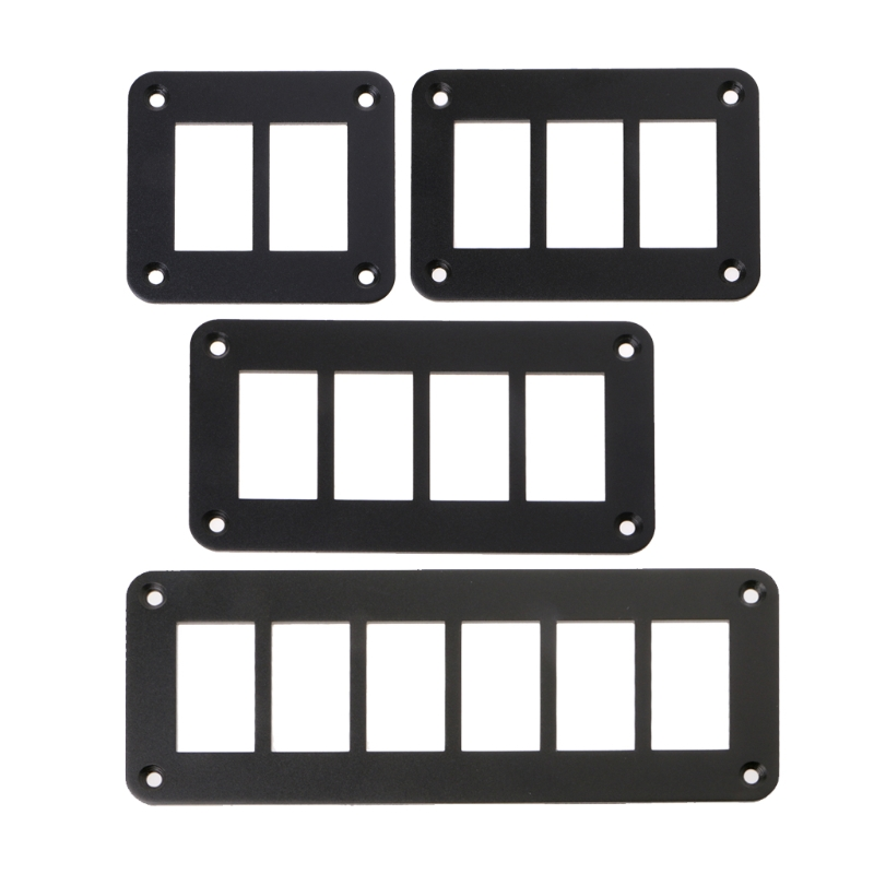 Car Switch Parts 2/3/4/6 Way Aluminum Rocker Switch Panel Housing Holder For RVs Boat trailers Auto Parts image