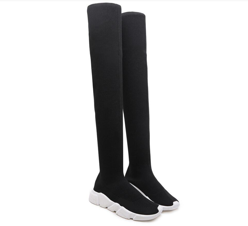 0e16bb26c8b Stretch Suede Women Thigh High Boots Stilettos Sexy Over The Knee ...