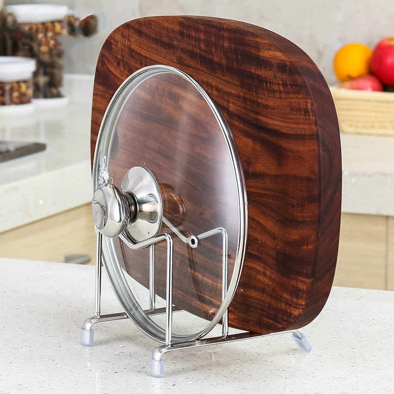 Kitchen chopping board rack 304 stainless steel pot shelf kitchen supplies chopping board rack Lu 4199 square chopping board