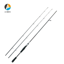 AI-SHOUYU Spinning Fishing Rod 2.1m 2.4m Power M ML Carbon Pole 2 Section Fiber Baitcasting