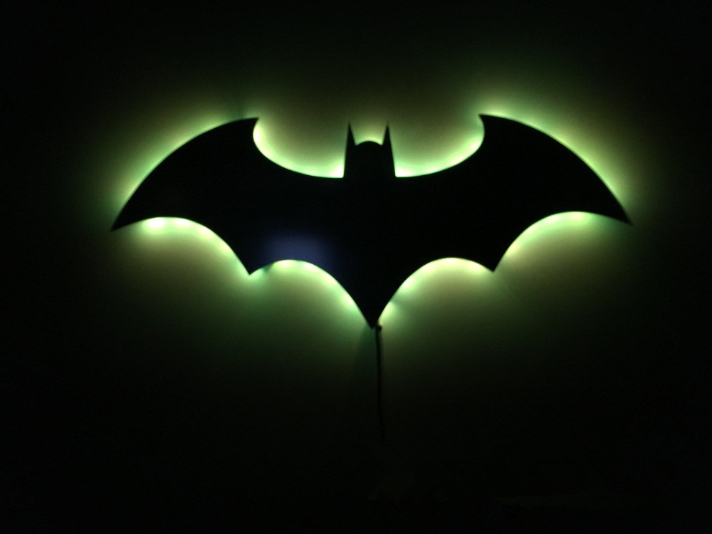 Batman 3d Nachtlampje Led Wandlamp Batman Symbool Creative Novelty