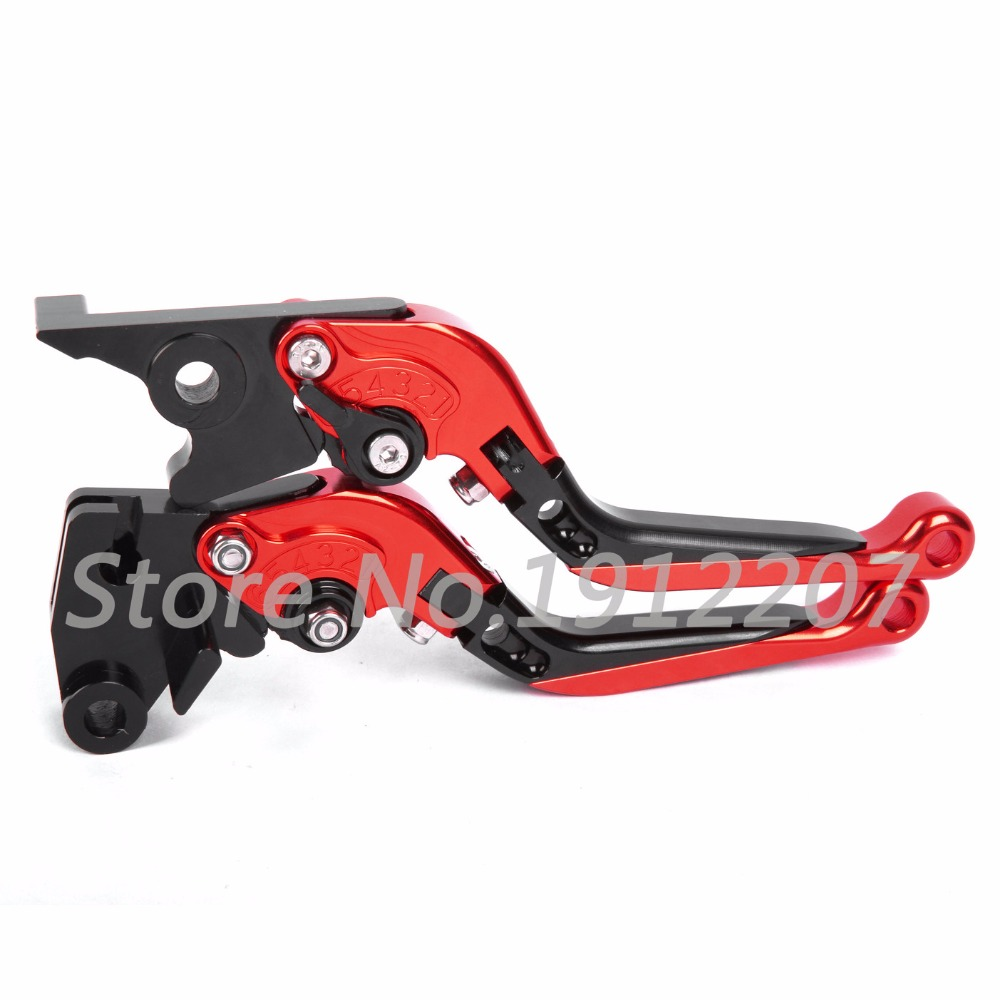 ФОТО For Honda CB600F/CB650F 2007-2013 Foldable Extendable Brake Clutch Levers Aluminum Alloy CNC High Quality Folding&Extending 2012